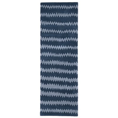 Gaia Hand-Tufted Blue Area Rug Rug Size: Runner 23 x 8