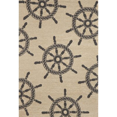 Walton Ship Wheel Neutral Indoor/Outdoor Area Rug Rug Size: Rectangle 5 x 76