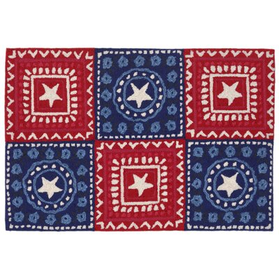 Walton Hand-Tufted Red Indoor/Outdoor Area Rug Rug Size: 18 x 26