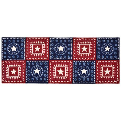 Walton Hand-Tufted Red Indoor/Outdoor Area Rug Rug Size: Runner 23 x 6