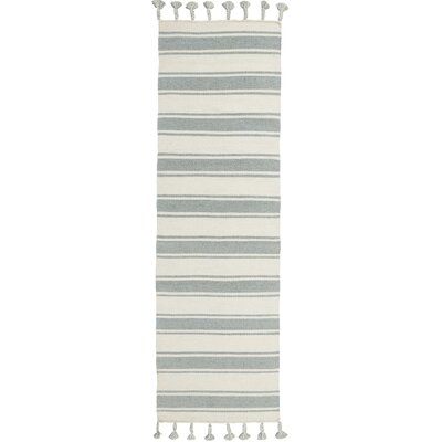 Baird Hand-Woven Ivory/Spa Area Rug Rug Size: Runner 23 x 8