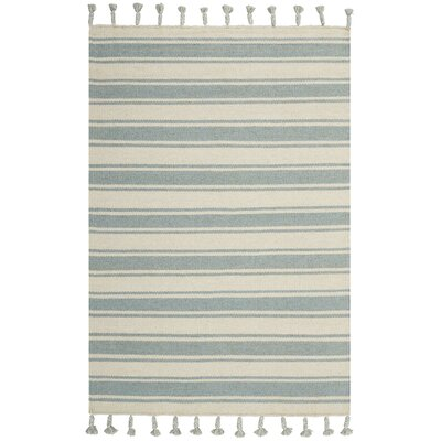 Baird Hand-Woven Ivory/Spa Area Rug Rug Size: Rectangle 4 x 66