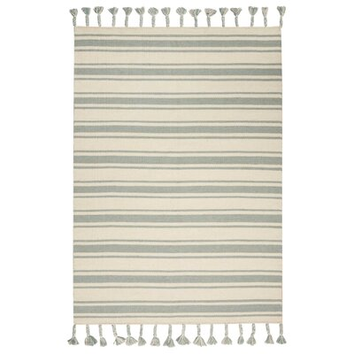 Baird Hand-Woven Ivory/Spa Area Rug Rug Size: Rectangle 5 x 76