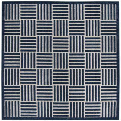 Zaniyah Blue Indoor/Outdoor Area Rug Rug Size: Square 67