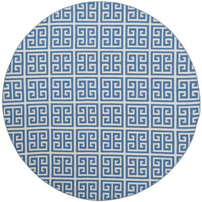 Royalton Hand-Woven Blue/Ivory Area Rug Rug Size: Round 6