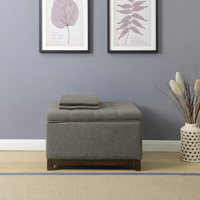 Watford Storage Ottoman Upholstery: Charcoal Gray