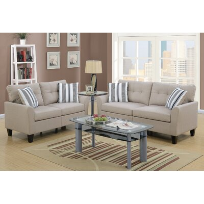 Wolfram 2 Piece Living Room Set Upholstery: Beige