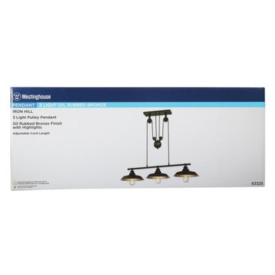 Alayna 3-Light Kitchen Island Pendant Finish: Bronze, Size: 31.97 H x 39.96 W x 12.01 D, Bulb Type: Incandescent