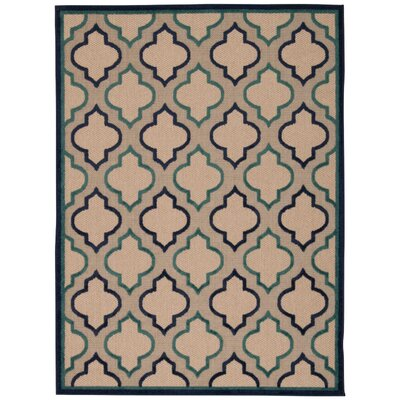 Ardleigh Navy Indoor/Outdoor Area Rug Rug Size: Rectangle 53 x 75