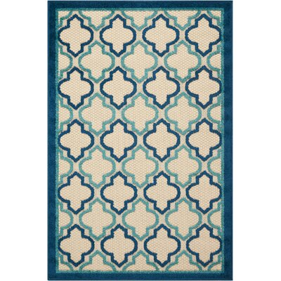 Ardleigh Navy Indoor/Outdoor Area Rug Rug Size: Rectangle 28 x 4