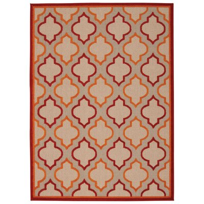 Ardleigh Red Indoor/Outdoor Area Rug Rug Size: Rectangle 53 x 75