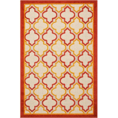 Ardleigh Red Indoor/Outdoor Area Rug Rug Size: Rectangle 28 x 4
