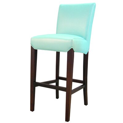 Ginevra� 29.5 Bar Stool with Cushion Upholstery: Aqua