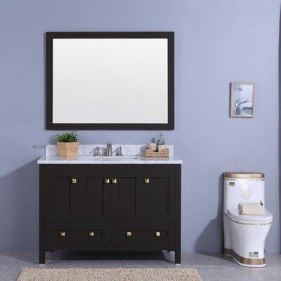 Midbury 49 Single Bathroom Vanity Set with Mirror Base Finish: Espresso