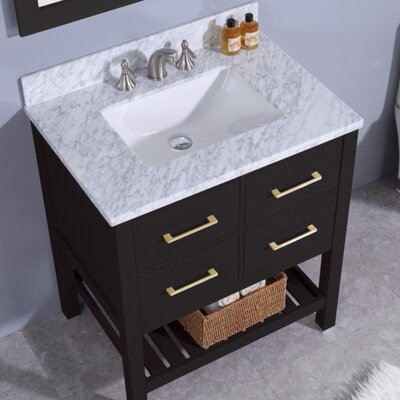 Rosemont 31 Single Bathroom Vanity Set with Mirror Base Finish: Espresso