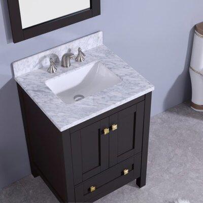 Blueridge 25 Single Bathroom Vanity Set with Mirror Base Finish: Espresso