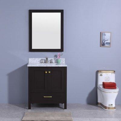 Meyers 31 Single Bathroom Vanity Set with Mirror Base Finish: Espresso