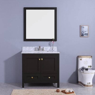 Bluffridge 37 Single Bathroom Vanity Set with Mirror Base Finish: Espresso