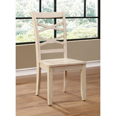Waynesville Solid Wood Dining Chair Chair Finish: White