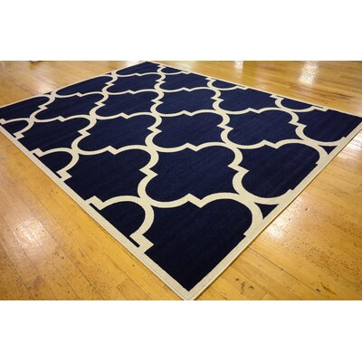 Moore Navy Blue Area Rug Rug Size: Rectangle 9 x 12