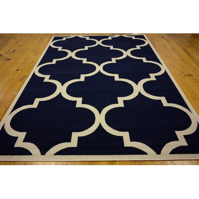 Moore Navy Blue Area Rug Rug Size: Rectangle 7 x 10