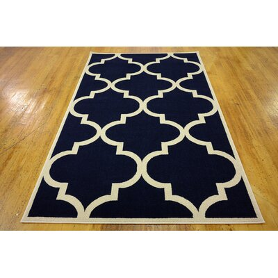 Moore Navy Blue Area Rug Rug Size: Rectangle 5 x 8