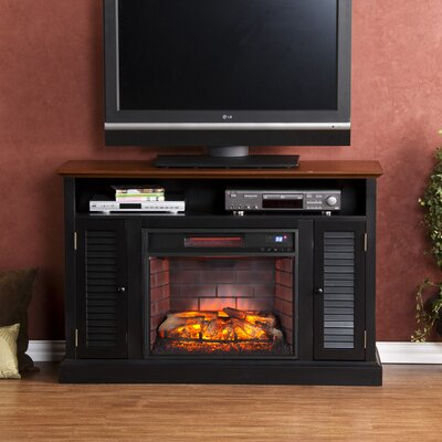 Lombardy 48 TV Stand with Fireplace Finish: Distressed Black