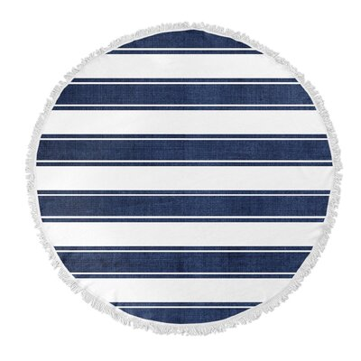 Ayleen Stripe Round Beach Towel