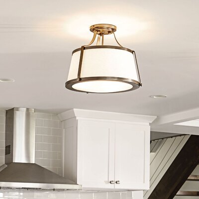 Chipley 3-Light Semi Flush Mount Finish: Brushed Caramel