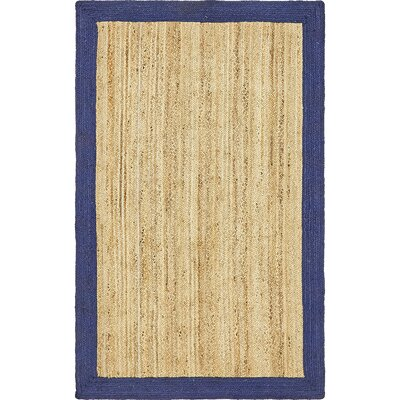 Elsmere Hand-Braided Natural Area Rug Rug Size: Rectangle 5 x 8