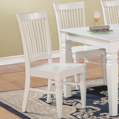 Pennington Solid Wood Dining Chair (Set of 2) Finish: Linen White