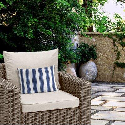 Ayleen Stripe Outdoor Lumbar Pillow