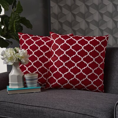 Milton Throw Pillow Pillow Cover Color: Coral