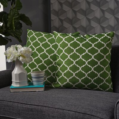 Milton Throw Pillow Pillow Cover Color: Green