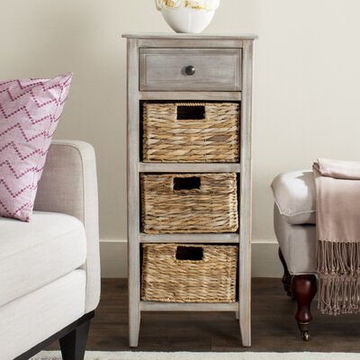 Darwin End Table With Storage Color: Vintage White