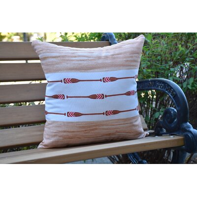 Crider Oar Stripe Center Print Indoor/Outdoor Throw Pillow Color: Ivory, Size: 20 x 20