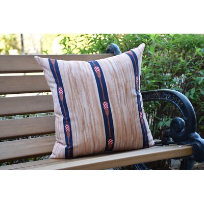 Crider Oar Stripe Trio Print Indoor/Outdoor Throw Pillow Color: Navy, Size: 20 x 20