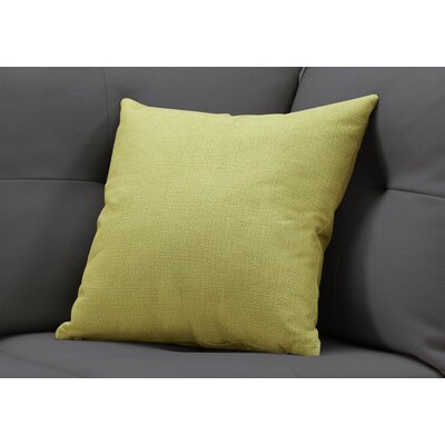 Griffith Square Throw Pillow Color: Lime Green