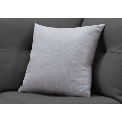 Griffith Square Throw Pillow Color: Light Gray
