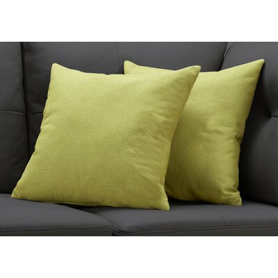 Griffith Throw Pillow Color: Lime Green