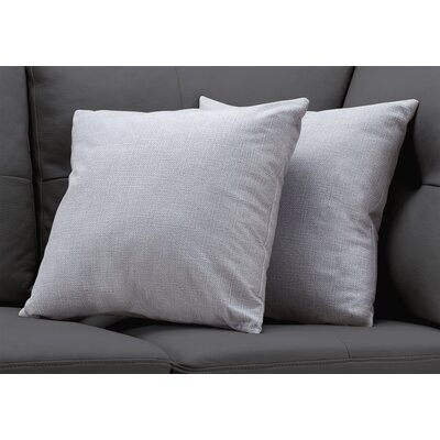 Griffith Throw Pillow Color: Light Gray