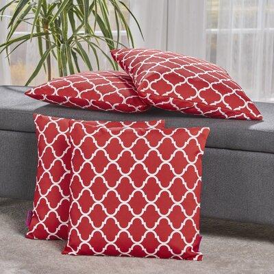 Milton Throw Pillow Color: Coral