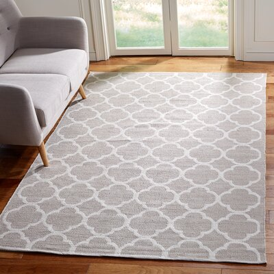 Desota Hand-Woven Gray/Ivory Area Rug Rug Size: Rectangle 5 x 8