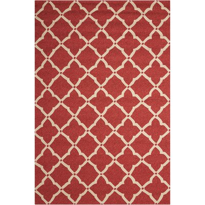Oaknoll Hand-Tufted Red Indoor/Outdoor Area Rug Rug Size: Rectangle 5 x 76