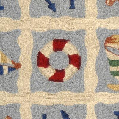 Eldridge Ivory / Blue Marina Novelty Area Rug Rug Size: Rectangle 29 x 49