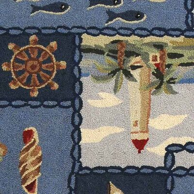 Eldridge Cape Cod Novelty Rug Rug Size: Rectangle 53 x 83