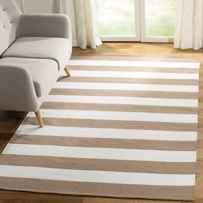 Sky Hand-Woven Sand/Ivory Area Rug Rug Size: Rectangle 5 x 8