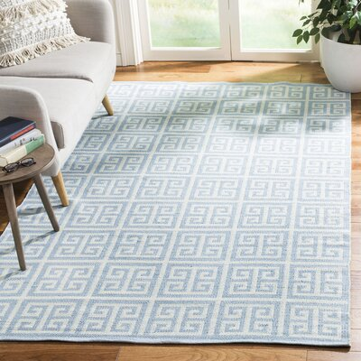 Royalton Hand-Woven Light Blue/Ivory Area Rug Rug Size: Rectangle 5 x 8