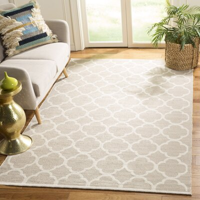 Desota Hand-Woven Gray/Ivory Area Rug Rug Size: Rectangle 5 x 8