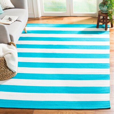 Arely Turquoise/Ivory Area Rug Rug Size: Rectangle 5 x 8